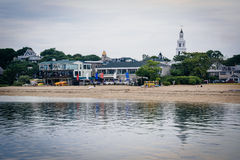Beach and buildings in Provincetown, Cape Cod, Massachusetts. Royalty Free Stock Images