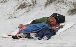 Beach Bums Stock Photography