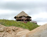 Beach bungalow. A bungalow in Tayrona National Park, Colombia Royalty Free Stock Image