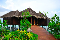 Beach Bungalow on Maldives Royalty Free Stock Images