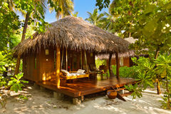 Beach bungalow - Maldives Stock Photos