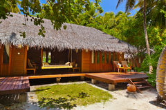 Beach bungalow - Maldives Royalty Free Stock Photography