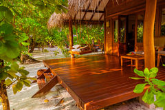 Beach bungalow - Maldives Royalty Free Stock Photos
