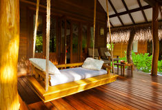 Beach bungalow - Maldives Stock Photography