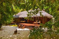 Beach bungalow - Maldives. Vacation background Royalty Free Stock Photo