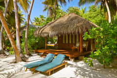 Beach bungalow - Maldives Royalty Free Stock Image