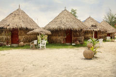 Beach bungalow Stock Photography