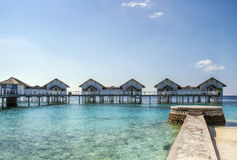 Beach bungalows, Maldives Royalty Free Stock Photos