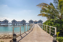 Beach bungalows, Maldives Royalty Free Stock Image