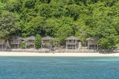 Beach bungalows Royalty Free Stock Image