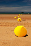 Beach buoys Royalty Free Stock Photography