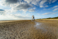 The Beach at Burnham on Sea Stock Image