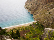 The beach of Butterfly valley. Faralya, Turkey Royalty Free Stock Image