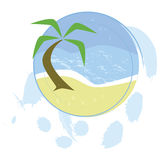 Beach button Royalty Free Stock Photo