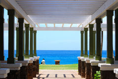Beach Cabana. Picture perfect at a resort Beach Cabana Stock Image