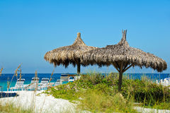 Beach Cabana. Cabana and Chair Rentals on the Beach Stock Images