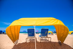 Beach Cabana Umbrella Royalty Free Stock Images