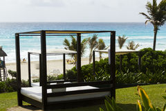 Beach cabanas Stock Photo