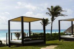 Beach cabanas Royalty Free Stock Photo