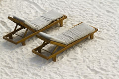 Beach cabanas Royalty Free Stock Images
