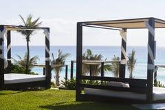 Beach cabanas Royalty Free Stock Image