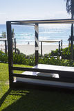Beach cabanas Stock Photography