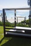 Beach cabanas Stock Photography