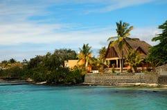 Beach cabin. Grand Bay, Mauritius Stock Photo
