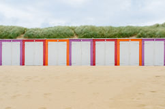 Beach cabines in Domburg. Zeeland, Holland Stock Images