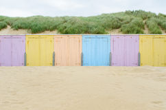 Beach cabines in Domburg Stock Images