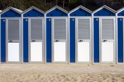 Beach cabins Stock Photos