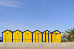 Beach cabins Royalty Free Stock Image