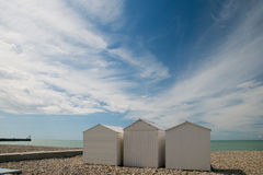 Beach cabins Royalty Free Stock Images