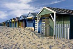 Beach Cabins Royalty Free Stock Photo