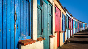 Beach cabins in Bude Royalty Free Stock Image