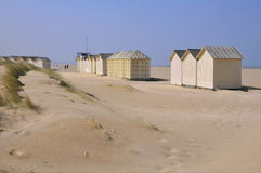 Beach cabins on the dunes Royalty Free Stock Images
