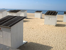 Beach cabins in Ostend Stock Photography