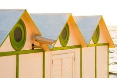 Beach cabins roofs, Stock Photos