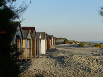 Beach cabins at West Wittering in Sussex, England, UK. Stock Photo