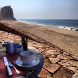 Beach Cabo San Lucas. Seaside desert ocean Oceanside Royalty Free Stock Image
