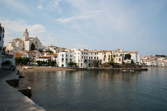The beach of Cadaques Catalunya Spain Royalty Free Stock Photo
