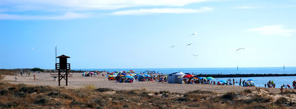 Beach in Cadiz. Andalusia. Spain Royalty Free Stock Photos