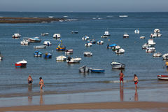 Beach in Cadiz, Spain Stock Image