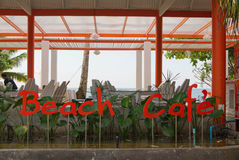 Beach cafe. Cafe on the beach at Koh Mak ,thailand Stock Photos