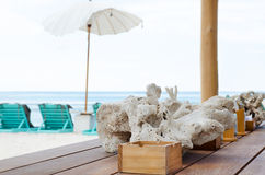 Beach cafe bar Royalty Free Stock Images