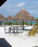 Beach cafe. Exotic nature maldives royalty free stock photos