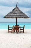 Beach cafe. Cafe on the maldivian beach Stock Image