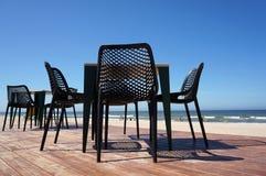 Beach cafe near sea. Royalty Free Stock Image