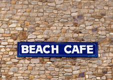 Beach cafe sign Royalty Free Stock Photography