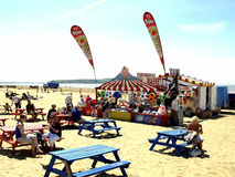 Beach cafe, Weston Super Mare Royalty Free Stock Image